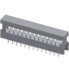 """2.54mm*2.54mm(.100""""*.100"""")Slim In-Line Connector For 1.27mm(.050"""") Center Flat Cable"""