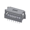 """2.54mm*2.54mm(.100""""*.100"""")Slim In-Line Connector For 1.27mm(.050"""")Center Flat Cable"""